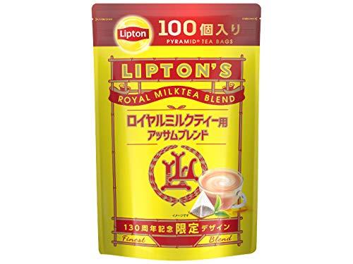【Amazon.co.jp限定】 リプトン ロイヤルミルクティー用 アッサムブレンド ティーバッグ 100杯分