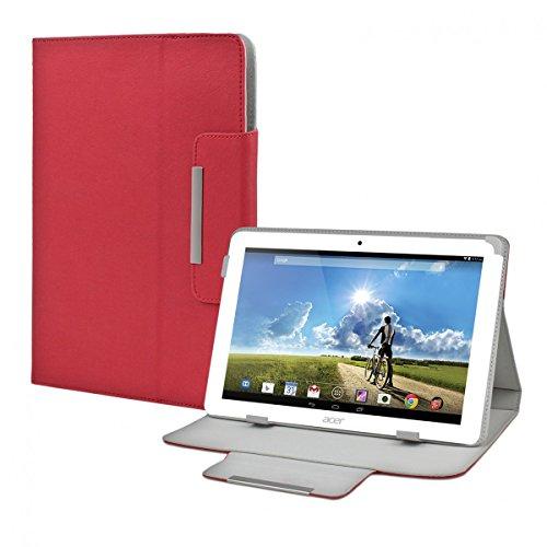 eFabrik Schutz Tasche für Acer Iconia Tab 10 A3-A20 10.1 Zoll Tablet-PC Schutztasche Zubehör Hülle mit Aufsteller in hochwertiger Leder-Optik rot