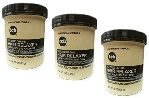 3x Relaxer / Glättungscreme TCB No Base Creme Hair Relaxer REGULAR - NORMAL 425g (Insgesamt - 1275g)