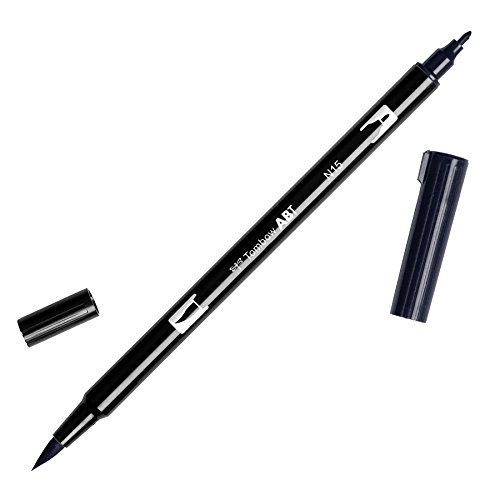 Tombow ABT-N15 - Rotulador permanente doble (1 unidad), color negro