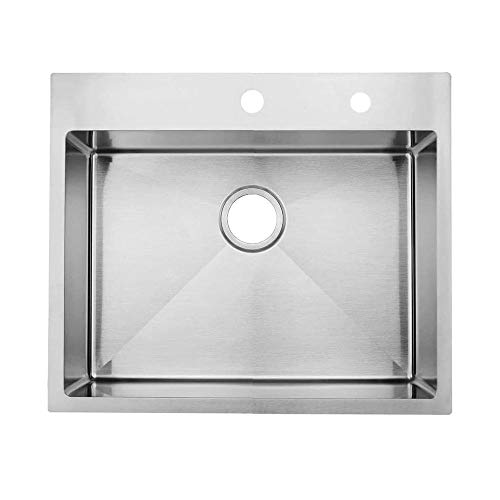 """KINGO HOME Commercial 33""""x 22"""" Inch 10 Inch Extra Deep Handmade Top Mount T304 Stainless Steel Drop-In Single Bowl Kitchen Sink"""