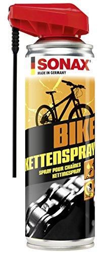 SONAX BIKE KettenSpray mit EasySpray (300 ml) - reinigt, schützt & schmiert, verringert Verschleiß & Reibung, Korrosionsschützend, hohe Kriech- & Haftwirkung | Art-Nr. 08762000