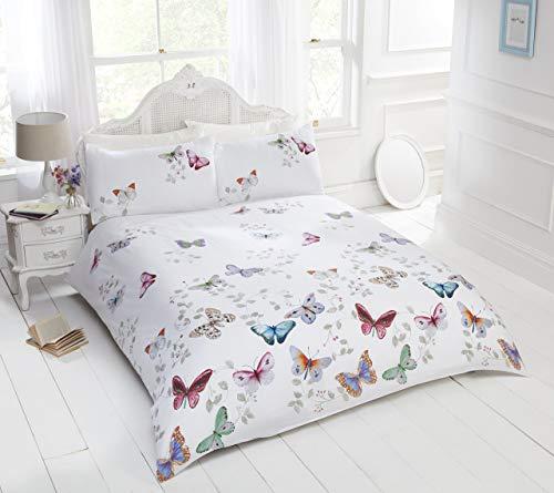 Rapport Juego de edredón con diseño de Mariposas de la Marca, Multicolor, King Size