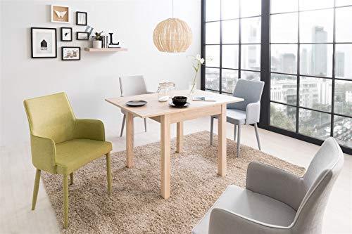 Eternity-Moebel24 Esstisch Esszimmertisch - Napoli - Auszugstisch Küchentisch Tisch ausziehbar (Sonoma Eiche)