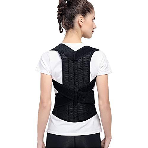 QINAIDI Cinturón de corrección jorobada, Corrector de Postura Sentado Masculino y Femenino, Cinturón de corrección de escoliosis Trasero,XL