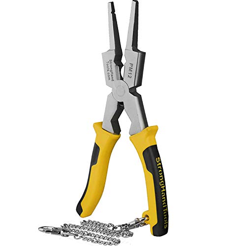 Strong Hand Tools, Deluxe MIG Welding Pliers, 8-Inch, Rounded & Flat Face Hammer, PM12