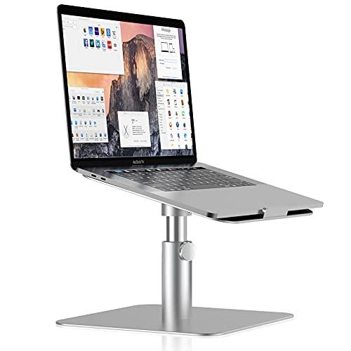 ProCase Verstellbarer Laptopständer, 360 °drehbarer Notebook Ständer, Robust Aluminium HöhenverstellbarerHalter für MacBook Pro/Air Dell HP Lenovo 11 bis 17 Zoll Laptops Wärmeableitung Stand -Silber
