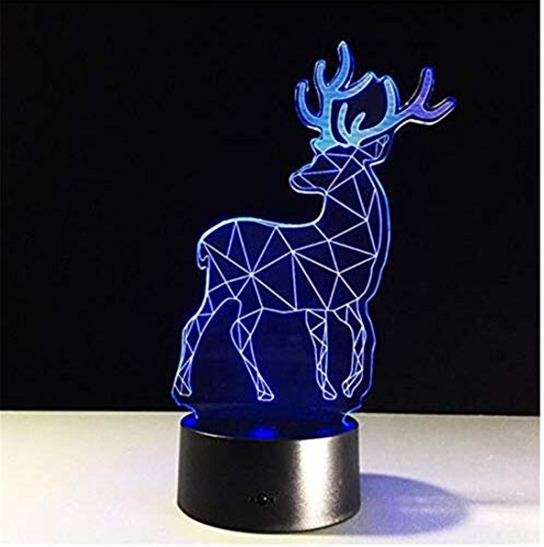 Led Lichter Edison Lichter Elch 3D Nachtlicht Weihnachten Hirsch Weihnachtsgeschenk Kreative Wohnzimmer Lampe