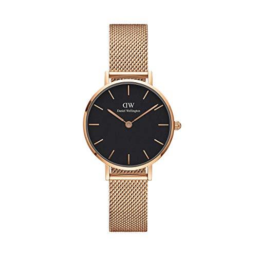 Daniel Wellington Unisex Erwachsene Analog Quarz Uhr mit Edelstahl Armband DW00100217