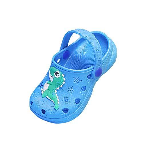 Coralup Zapatos de jardín para niños pequeños con diseño de unicornio, sandalias de playa de dinosaurios, cómodas, ligeras, antideslizantes, para niñas y niños de 33,5 a 32,5 años, color, talla 25 EU ⭐