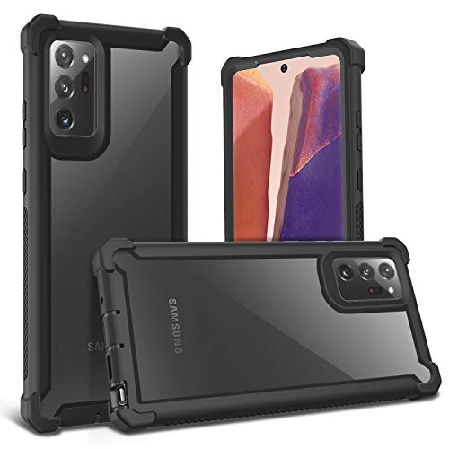 KSELF Case for Samsung Galaxy Note 20 Ultra Case with Screen Protector, Full Body Protective Hybrid Dual Layer Shockproof Cover Case for Samsung Galaxy Note 20 Ultra 6.9 inch (Black)