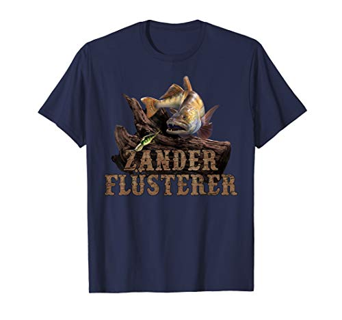Lustiges T-Shirt mit coolem Spruch für Zander Flüsterer T-Shirt
