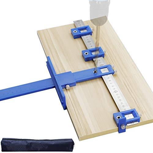 Localizzatore di punzoni falegnameria utensili professionali dima per spinatura legno Punch Locator Guida per Foratura Legno Dima di foratura Punch Locator per Falegname per Misurazione accurata
