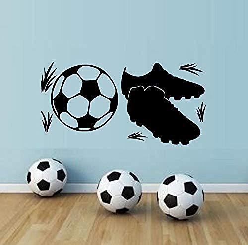 Autocollant Mural Chambre Decoratifs Stickers Peinture Murale Sneakers Et Football Port Fans Diy Rétro Affiche Garçon Enfants Chambre 86X43cm