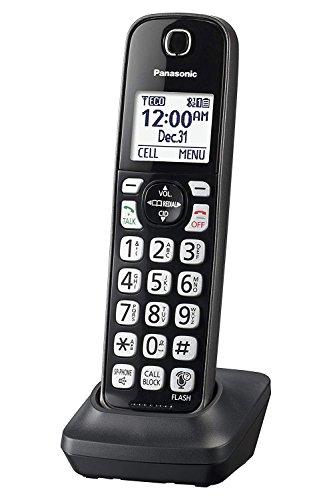 Panasonic KX-TGDA51M Dect 6.0 Digital Additional Cordless Metallic Black Handset for KX-TGD56x Series (Renewed)