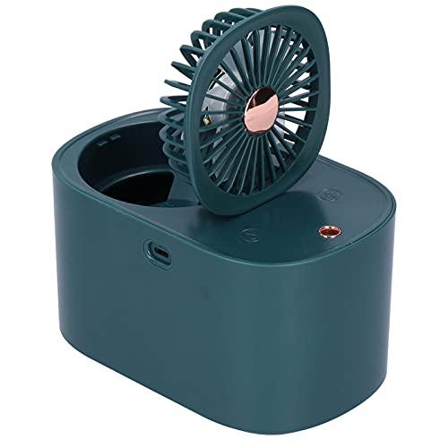 Fydun Humidificador de Niebla con Ventilador, pequeño Ventilador de nebulización de Aire de Escritorio Personal Ventilador portátil Personal Plegable de 90 Grados para la Oficina(Azul)