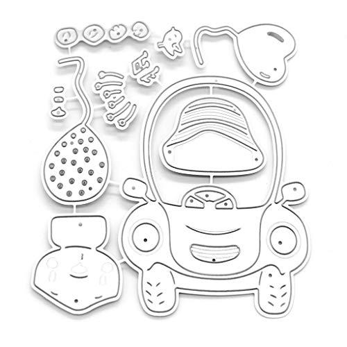 JERKKY Creative Schneidwerkzeuge Schablone, Antriebsbär Metallschneidwerkzeuge Schablonen Scrapbooking DIYAlbum Stempelpapier