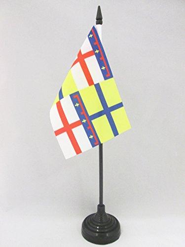 AZ FLAG Bandera de Mesa de la Region DE Emilia 15x10cm - BANDERINA de DESPACHO DE Emilia - Italia 10 x 15 cm