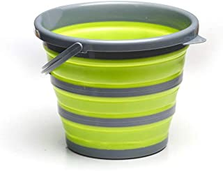 ROADIE Collapsible 11 L Bucket/Pail with Strong, Flexible, Compact and Sturdy Handle for Hiking, Backpacking, Camping and ...