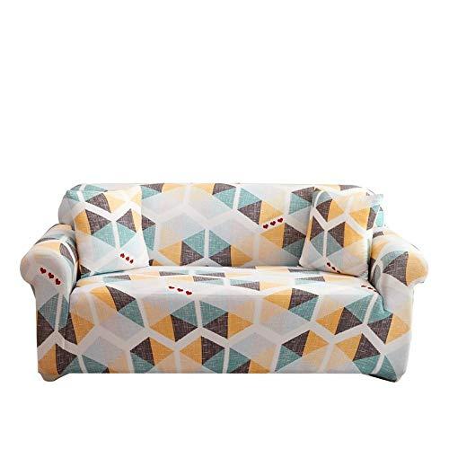 Ajuste elástico con Funda de sofá Fundas de sofá en Forma de L Impresas con celosía Cuadrada de 3 plazas para Sala de Estar, Funda Protectora elástica Antipolvo para Esquina N