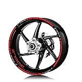 Pegatina de Rueda para K-AWASKI Z750R Z 750R Motorcycle Rim Secure Tire Y Rim Reflective Decal Decal Wheels Sticker Set (Color : Red)