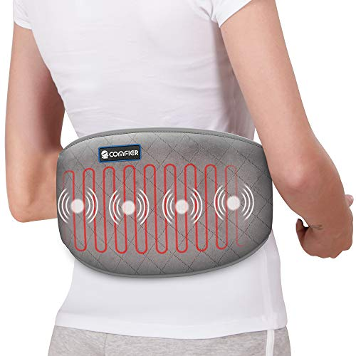 Comfier Heating Pad with Massager, Heated Waist Massage Belt for Back Pain with 2 Heat Levels & 3 Massage Modes, Heating Pads for Cramps,Abdominal, Lumbar,Fit for Women,Men
