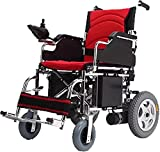 MENG Electric Wheelchairs are Easy to Fold and Portable Electric Automatic Scooter for Travel and Portable Elderly Disabled Assisted Wheelchairs,Red