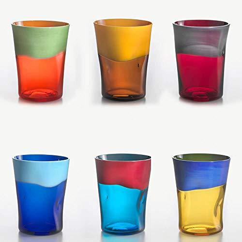Nason Moretti Dandy Set 6 Bicchieri Acqua Vari Colori MOD.1