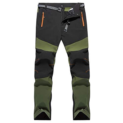 7VSTOHS Pantaloni da Trekking Comodi da Uomo Pantaloni Caldi Antivento Pantaloni Casual da...