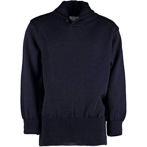 TW Kempton / Outdoor Knitwear Faslane Classique Matelot de col châle # 41103 - Bleu - Large