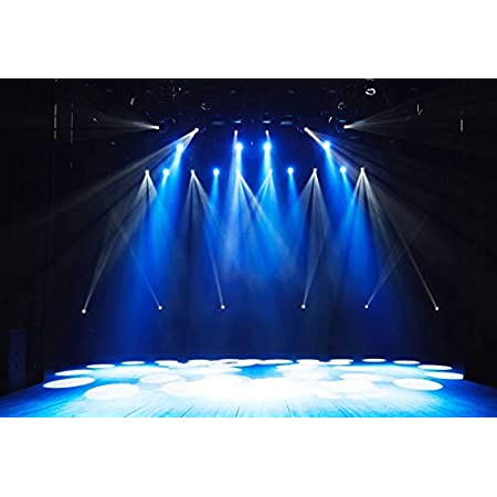 DaShan 8x6ft Polyester Stage Concert Backdrop Night Show Entertainment Disco Party Club Spotlight Lights Prom Photography Background Lighting Nightclub Musical Hall Club Birthday YouTube Photo Prop