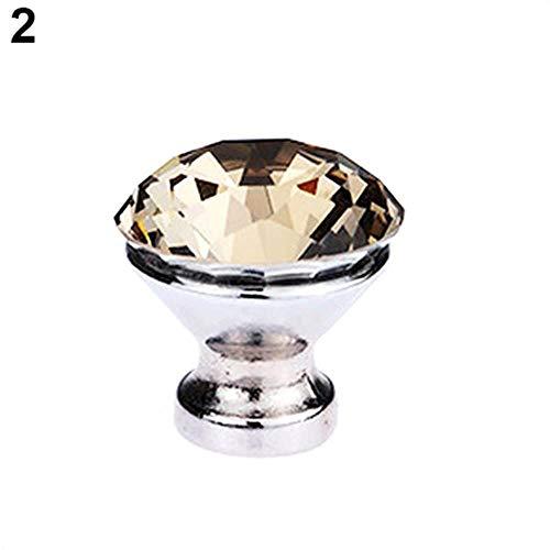 40# Diamond Shape Home Nob Kast Dressoir Lade Kledingkast Deurknoppen Handvat Trek Deurgrepen DONKERBRUIN