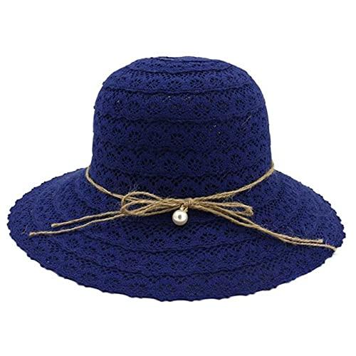 Sombrero De Paja Femenino Playa Vacaciones Sol Sombrero Grande Protector Solar Sombrero De Playa Sombrero (Color : 5)