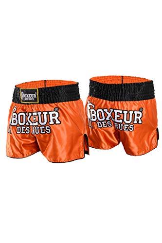 Boxeur Des Rues heren Thai-shorts, oranje, M
