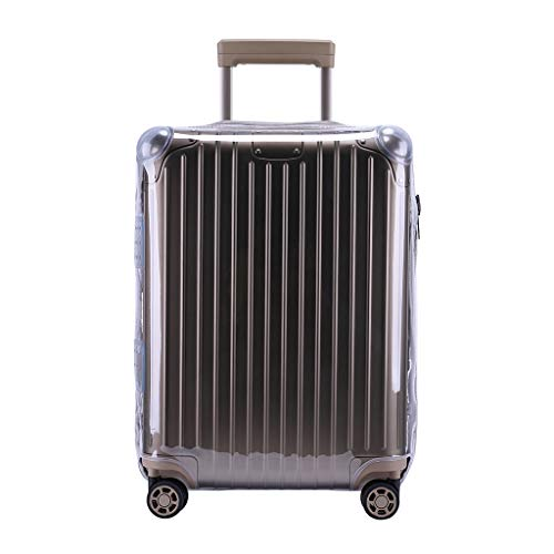 "RainVillage Luggage Covers Luggage Protector Clear PVC Suitcase Protective Case with Zipper Closure for Rimowa Original Trunk (92575,29"")"