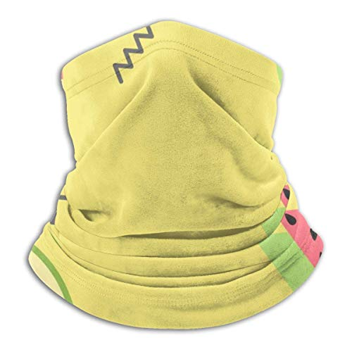 ShiHaiYunBai Tour de Cou Cagoule Microfibre Chapeaux Tube Masque Visage, Funny Watermelon Fleece Neck Warmer - Reversible Neck Gaiter Tube, Versatility Ear Warmer Headband & For Men And Women