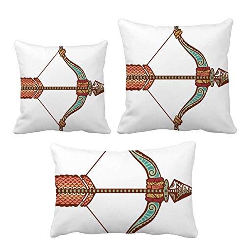 DIYthinker Sagitario Constelación Zodiaco Juego de almohadas de cojín con relleno de cojín para el hogar, sofá, decoración de regalo