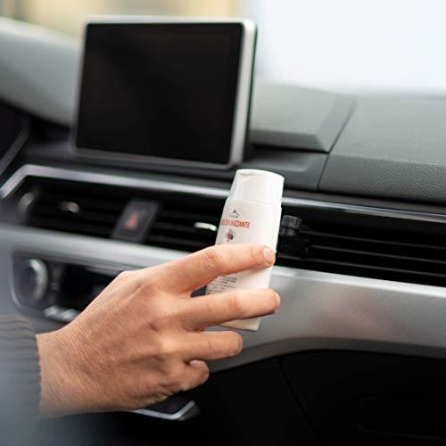 Kit Supporto Universale Gel Igienizzante Mani Rimovibile Per Auto, Flacone Gel Di Qualità Superiore 75% Alcol