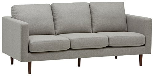 "Rivet Revolve Modern Upholstered Sofa Couch, 80""W, Grey Weave"