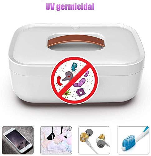 Sooiy Dispositivo esterilizador UV, Secadora, adecuados para la Ropa Interior de Secado, el teléfono móvil, Herramientas de la Belleza, de la esterilización y desinfección Herramientas de uñas,Blanco