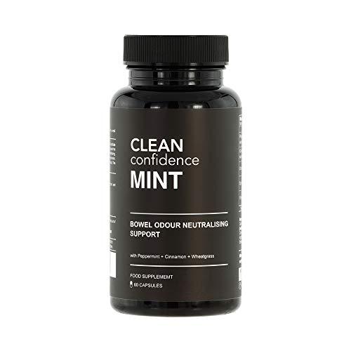 CLEAN Confidence MINT Darmgeruch neutralisierende Unterstützung - 60 Kapseln - Ein-Monats-Versorgung durch ConfidentU