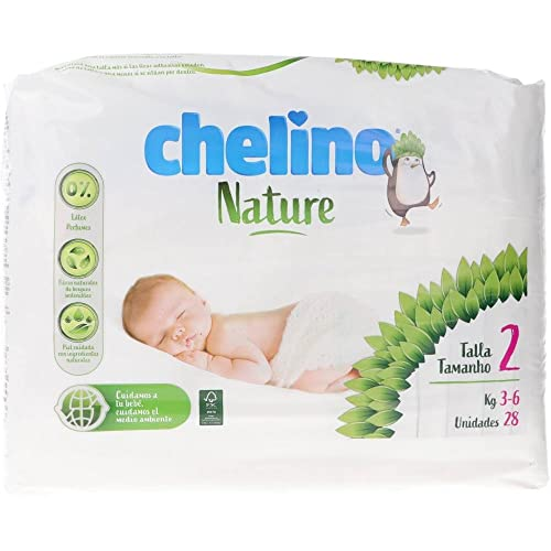 Pañales Chelino nature talla 2 (3-6 kg) 28 uds