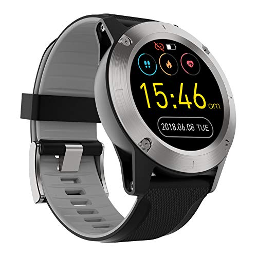 QNMM R911 reloj inteligente para hombres con deportes al aire libre Brújula altitud presión de aire reloj inteligente Fitness Tracker monitor de ritmo cardíaco para hombres mujeres