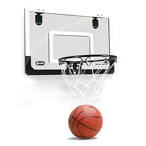 N / C Baloncesto, Tablero Interior, Uniforme de Baloncesto Infantil Colgante, Estructura de Acero Inoxidable de Malla de Nailon, Estable y Firme, con inflador