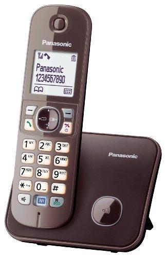 Panasonic KX-TG6811GA DECT-Telefon schnurlos, GAP Telefon, Festnetz, mocca-braun