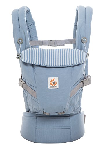 Ergobaby Adapt Award Winning Ergonomic Multi-Position Baby Carrier, Newborn to Toddler, Azure Blue