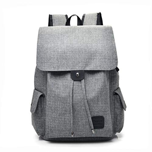 REBKW Mochila para portátil de las mujeres 2021 impermeable de 15.6 pulgadas de carga USB mochila de viaje Oxford masculina de moda bolsa de trabajo escolar (negro, China)