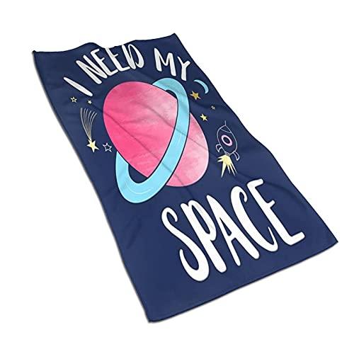 AOOEDM Toalla Deportiva para Yoga Toallas de baño 27.5 x 15.7 Pulgadas, Universe Rocket Stars Moon Quote I Need My Space, Toallas de Mano de Secado rápido súper absorbentes para Viajes de Play