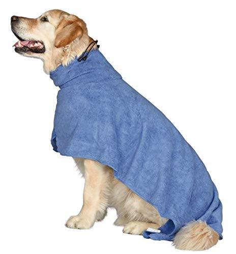 Trixie Bademantel/Hunde, Gr. L, Mikrofaser, 60 cm, blau - 5