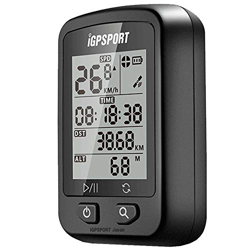 GPS サイコン サイクリングコンピュータ 高度計 充電式 IPX6防水 自動バックライト マウント付き iGPSPORT iGS20E 日本語マニュアル STRAVA 連携